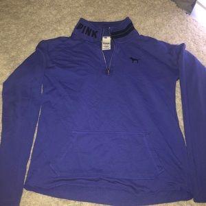 Pink Victoria secret 1/4 zip sweater